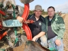 John Whelan and Dan Donnelly who represent Ireland in the Reversible section of the European Ploughing Championships, pictured here on the practice site at Cardenton, Athy, Monday 20 September 2010. Picture: Alf Harvey.