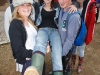 Amy Roulston, Stephen Hayes, Jake Thornton and Tori Berber hold up Leanne McNamara from Ballybrittas with her college friends down from Dublin