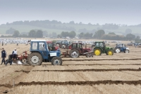 Ploughing underway on day 1 at the National Ploughing Championships at Ratheniska, Co Laois. Picture: Alf Harvey/hrphoto.ie