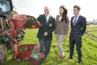 Ally Nagle-Keohane modelling for Noreen O'Donnell, New RossNPA chairman James Sutton; Ally Nagle-Keohane modelling for Noreen O'Donnell, New Ross and Michael John Tierney, Topaz on site at Heathpark, New Ross where the National Ploughing Championships will be held Tuesday 25th-Thursday 27th September.Picture: Alf Harvey.